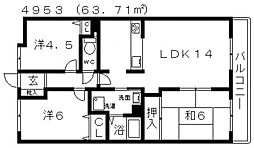 ベルメゾン道明寺[603号室号室]の間取り