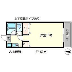 エルム松ヶ崎[1階]の間取り