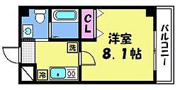 仮)梅津神田町共同住宅 4階1Kの間取り