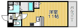 京阪本線 守口市駅 徒歩5分の賃貸マンション 8階1Kの間取り