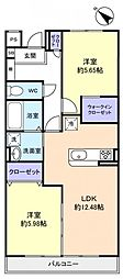 イデア緑が丘B棟[2階]の間取り