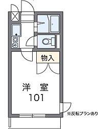 東京都三鷹市野崎4の賃貸マンションの間取り