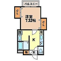 プチメゾン宇都パート2[104号室]の間取り