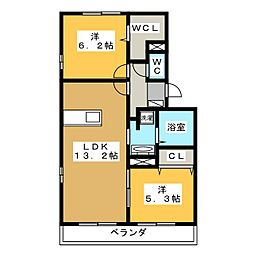 プルミエIII A棟[1階]の間取り
