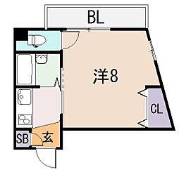 ベルジュネス[3階]の間取り