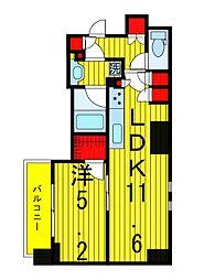 ザ・パークハビオ浅草駒形[11階]の間取り