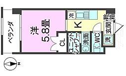 バス 真玉橋入口下車 徒歩4分の賃貸アパート 3階1Kの間取り