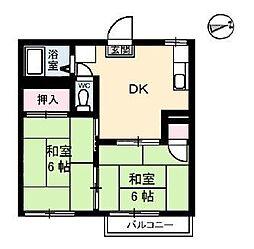 サンライズ A棟[1階]の間取り
