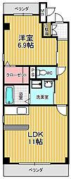 愛知県名古屋市緑区鳴丘2丁目の賃貸マンションの間取り