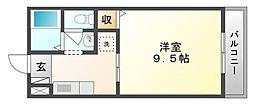 岡山県岡山市東区西大寺上3丁目の賃貸マンションの間取り