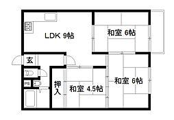 九条住宅[10階]の間取り