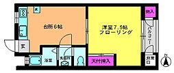 シルクマンション[1階]の間取り