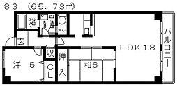 グランシャリオ[305号室号室]の間取り
