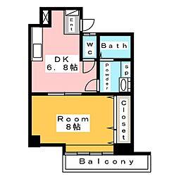 リバーグリーン[2階]の間取り