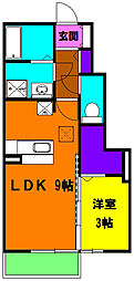 静岡県浜松市南区米津町の賃貸アパートの間取り