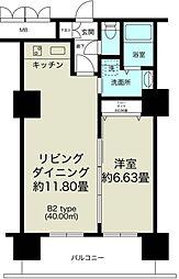 ノルデンタワー新大阪プレミアム[7階]の間取り
