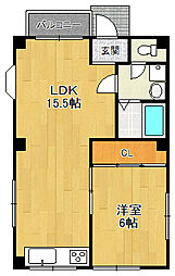 西岡マンション[3階]の間取り
