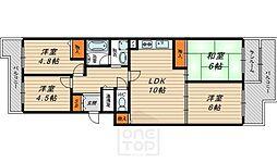 京橋グリーンハイツ3号棟[11階]の間取り