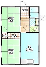 [一戸建] 神奈川県南足柄市広町 の賃貸【/】の間取り