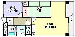 元町ルーラル[4階]の間取り