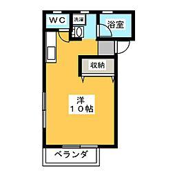 ガーデニア21A棟[1階]の間取り