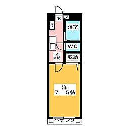 ユーハイツ旭ヶ丘[2階]の間取り
