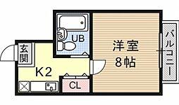 モンシャトー[205号室号室]の間取り