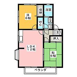 フォワイエS棟[2階]の間取り
