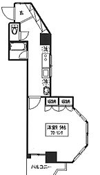メゾン・ド・新宿 10階1Kの間取り