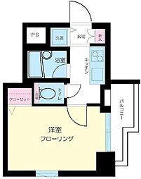 東京都港区六本木3丁目の賃貸マンションの間取り