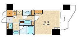 東京メトロ東西線 九段下駅 徒歩3分の賃貸マンション 4階1Kの間取り