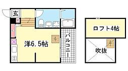兵庫県神戸市長田区川西通5丁目の賃貸アパートの間取り