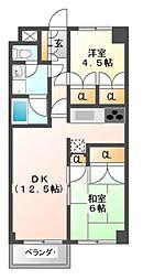 ナガラアンクレー[1階]の間取り