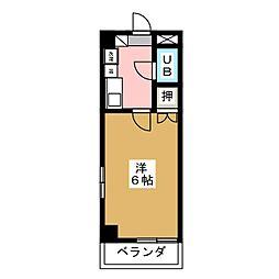 メゾンナガオ[3階]の間取り