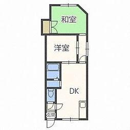 コーポ栄(東区)[1階]の間取り
