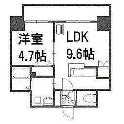北海道札幌市豊平区豊平一条2丁目の賃貸マンションの間取り