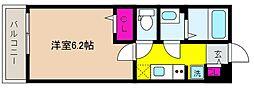 JR東海道・山陽本線 摂津本山駅 徒歩9分の賃貸マンション 1階1Kの間取り