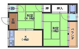 永井ハイツ[1階]の間取り