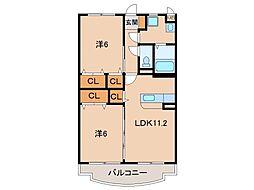 ボナール1号館[1階]の間取り