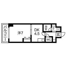 エンゼルプラザ京都[304号室号室]の間取り