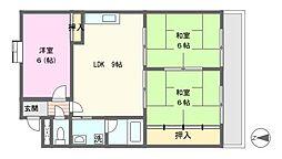 メルローズⅡ号館[3階]の間取り