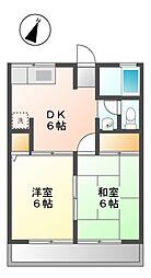 静岡県静岡市葵区千代田4の賃貸アパートの間取り