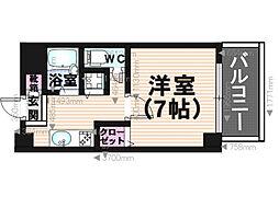 コスモコート[3階]の間取り