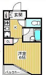 東京都調布市多摩川4丁目の賃貸マンションの間取り