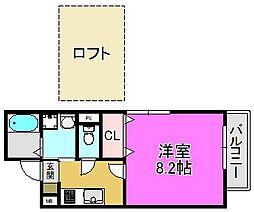 デル・メゾン堺市駅[1階]の間取り