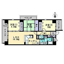 Stage One〜ステージワン〜[4階]の間取り