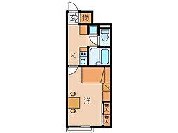 レオパレスKKS木ノ本[2階]の間取り