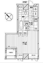 カスタリア銀座[11階]の間取り