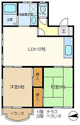 メゾン豊C 205[2階]の間取り