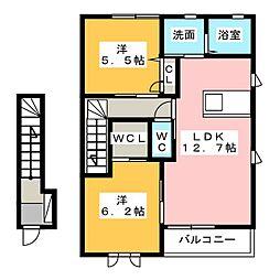 ソレイユ小池 II・III[2階]の間取り